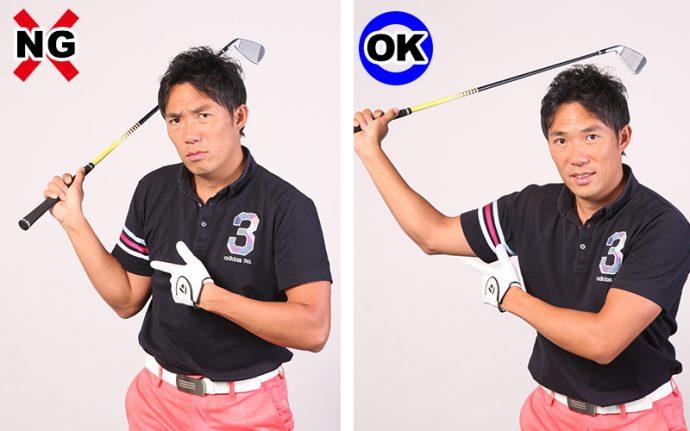 ゴルフ スイング 右 肘 肘使いがうまい人はゴルフ上手「バックスイング肘編」【Flow