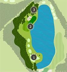 石岡ゴルフ倶楽部のコースレイアウト1