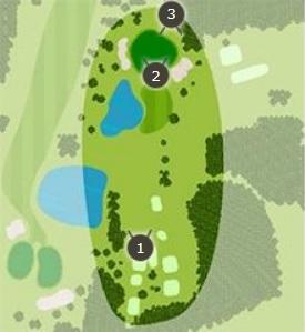 セントラルゴルフクラブのコースレイアウト1