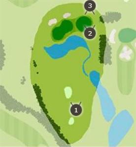 霞台カントリーゴルフクラブのコースレイアウト1