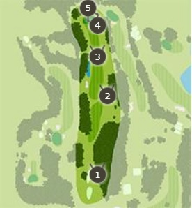 霞台カントリーゴルフクラブのコースレイアウト3