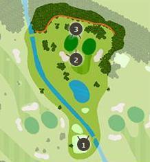 新玉村ゴルフ場のコースレイアウト1