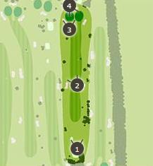 新玉村ゴルフ場のコースレイアウト2
