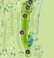 新玉村ゴルフ場のコースレイアウト3