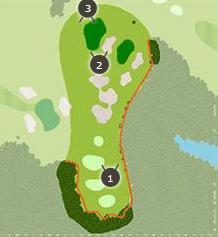 おおむらさきゴルフ倶楽部のコースレイアウト画像1