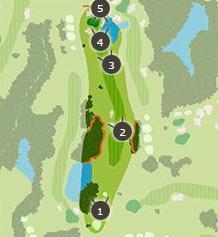 おおむらさきゴルフ倶楽部のコースレイアウト3