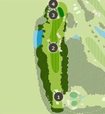こだまゴルフクラブのコースレイアウト2