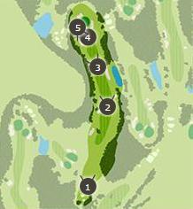 こだまゴルフクラブのコースレイアウト3