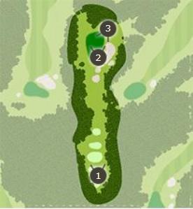 アクアラインゴルフクラブのコースレイアウト画像1