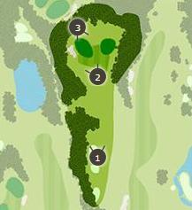 ロイヤルスターゴルフクラブのコースレイアウト1