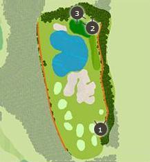 ミルフィーユゴルフクラブのコースレイアウト1
