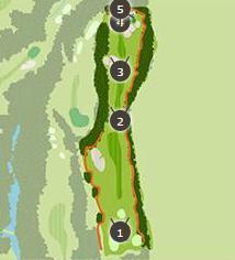 ミルフィーユゴルフクラブのコースレイアウト3