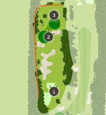 昭和の森ゴルフコースのコースレイアウト画像1