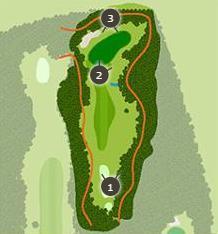 勝沼ゴルフコースのコースレイアウト1