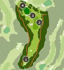 勝沼ゴルフコースのコースレイアウト2