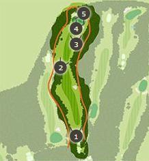 勝沼ゴルフコースのコースレイアウト3