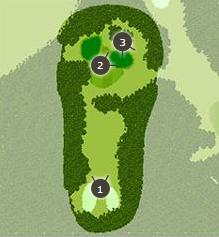 富士ゴルフコースのコースレイアウト画像1